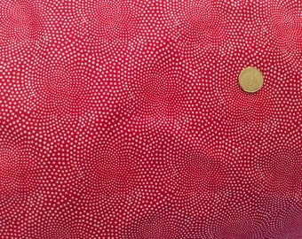 High quality cotton poplin dyed in Japan with red, dotty print