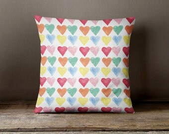 love hearts  Cushion, Hearts cushion, love cushion, Valentines Gift, Anniversary gift, Scatter cushion, pretty Cushion, gift for her