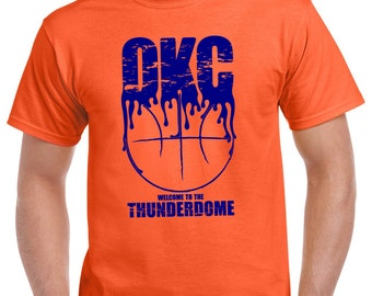 Welcome to the Thunderdome T-Shirt. This shirt is perfect for any OKC Thunder fan! Offered in a variety of different colors and sizes.