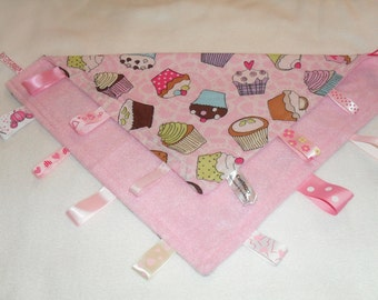 Cosytaggy personalised taggy blanket~comforter.fun & prettycupcake  design with fleece reverse