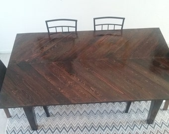 Chevron Kitchen / Dining Room Table
