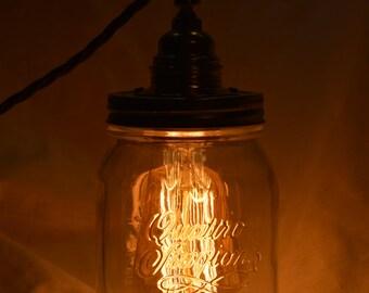 MASON JAR LAMP Lampada Industriale Vintage Retrò Stile Edison Bulb