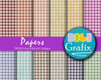 SALE Houndstooth Digital Paper - Old papers, Houndstooth Digital Paper, Printable Paper, Houndstooth Birthday Party, Houndstooth old papers