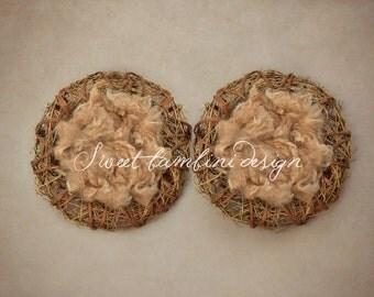 Twin Newborn digital photography Prop/Backdrop - Twin Natural Nest