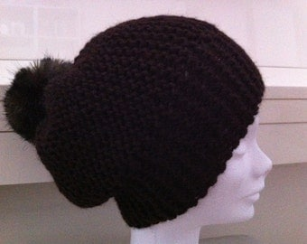 Brown Hat dark Alpaca with tassel