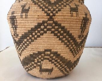 SALE Native American Basket Apache Olla Storage Jar