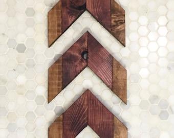 Set of 3 Wood Chevron Arrows