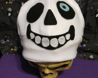Blue eye Sans Inspired Skeleton Hat Costume