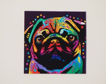 Dog magnet, Pug dog magnet