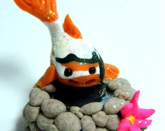 "OOAK Koi Miniature Trollfling Troll fish pond ""Atiya"" by Amber Matthies"
