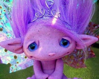 Purple Princess Fairy Signature Trollfling Troll doll Arabella by Amber Matthies