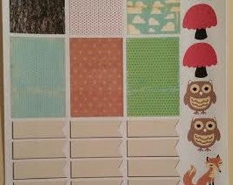 Happy Planner Woodland Creatures Planner Stickers Set of 30
