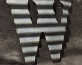 W - Recycled Antique Roofing Tin Letter by JunkFX