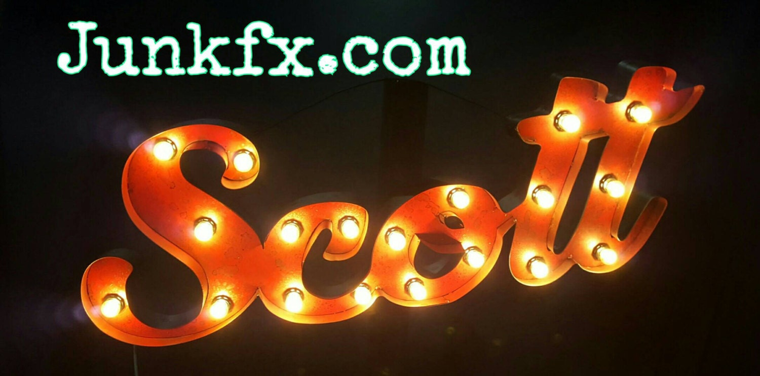 Light Up Signs Custom: Custom Name Script Marquee Lighted Sign