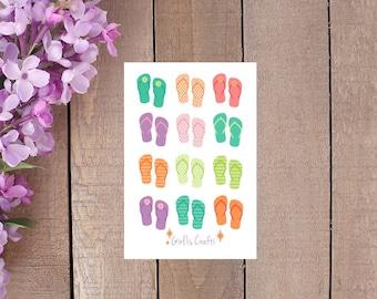 Summer Flip Flops for your Planner or Scrapbook