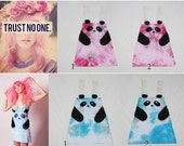 Limited Edition New York Couture HAND-DYED Panda Dress (as seen on Katy Perry)