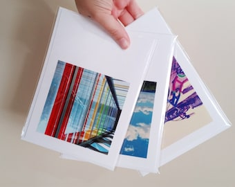 Mysterygram Blank All Occasion Photo Greeting Card, 5x7 Instagram Mystery Mail, Blank Greeting Cards - Set of Three - Random Surprise Mail