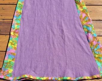 Hemp and batik panel dress