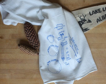 Snowman towel tea towel white cotton towel floursack kitchen towel holiday dish towel stocking stuffer hostess gift