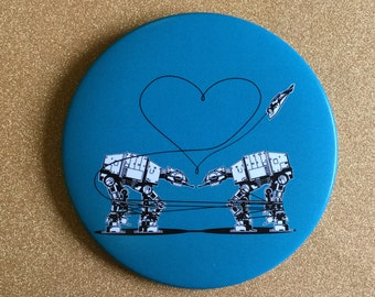 Giant AT-AT Magnet - Blue, Star Wars Magnet, Fridge Magnet, Refrigerator Magnets, Star Wars Gift, Star Wars Party