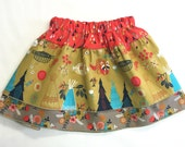 Toddler/Girls 3-Tier Skirt - Girls' Indian Skirt - Toddler Outfit
