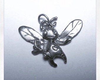 FINE silver Bee pendant only ONE made