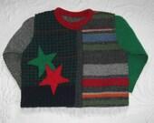 star cardigan . baby cardigan . baby boy sweater .  boy folk cardigan . felted sweater baby cardigan . ERNST 503