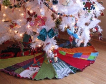 Ready to SHIP - Recycled Tree Skirt