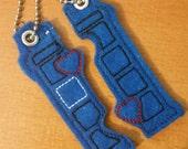 Doctor Who Tardis friendship Valentine inspired Keychain