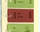 Letterpress Gift Tags, Holly Boughs