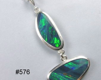Australian opal pendant in Argentium silver
