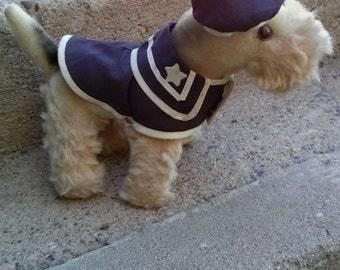 Vintage 1960s Stuffed Dog Gund Toy Airedale Schnauzer Terrier Sailor 7 Inches