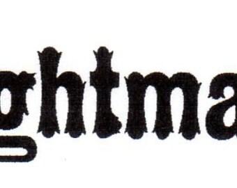 Nightmare Red Rubber Stamp-Original design 03104, halloween rubber stamp, gothic rubber stamp