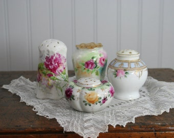 mixed lot of Vintage SALT and PEPPER SHAKERS - Rose Cottage Chic