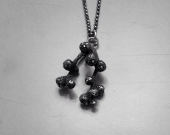 Sterling silver seed necklace -Pods