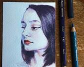 Blue Mood - Original Sketch
