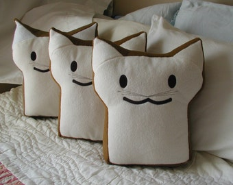 Cuddly and Crazy BreadCat Pillow Handcrafted in the USA
