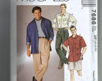 McCall's Men's Shirt, Pants or Shorts Pattern 7686