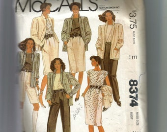McCall's Misses' Jacket, Top, Skirt and Pants or Shorts Pattern 8374
