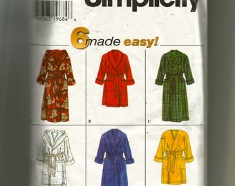 Simplicity Misses' and Men's Robe Pattern 7417