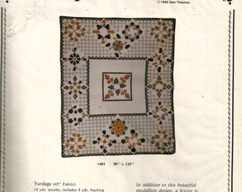 Grape Medallion Quilt Pattern by Evening Star Farm
