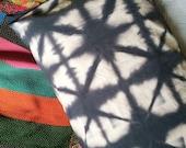 Hand Dyed Cotton Pillow Cases in Black Diamond, set of two, shibori