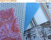 40% FLASH SALE- Fat Quarter Bundle- Softness-Reclaimed Bed  Linens