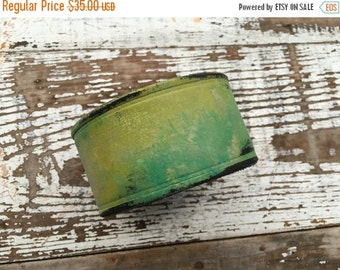 40% FLASH SALE- Custom Leather Cuff-Create Your Own-Word Cuff-Hand Painted-Alligator Sunset