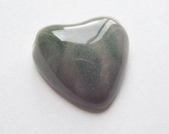 ON SALE Vintage large ceramic heart pendant