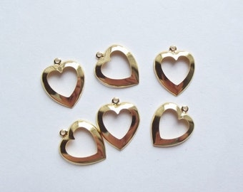 On Sale Vintage cutout heart charms