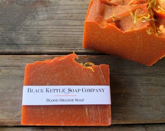 Palm Free BLOOD ORANGE Soap...Black Kettle