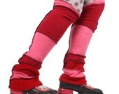 Berry Red Legwarmers - 100% CASHMERE