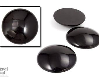 30mm Black Low Dome Cabochon (4 Pcs) #5705