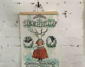 Deerhoof Screenprinted Poster
